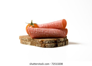Bread with salami
