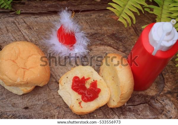 Bread and santa hat