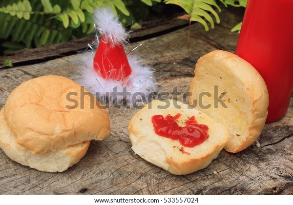 Bread and santa hat