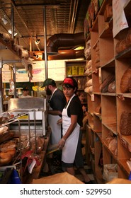 Bread section at Zingerman's Delicatessen in Ann Arbor, Michigan