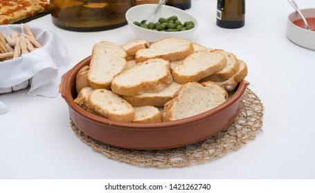 Bread served at a buffet in celebration of a wedding in Valencia, Spain.
