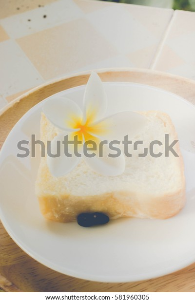 Bread served with coffee very good in morning time