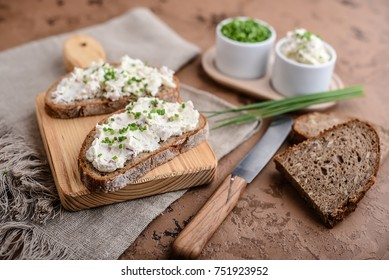Bread with speck spread
