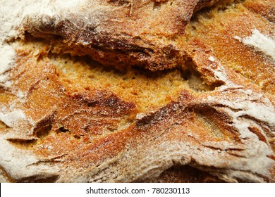 Bread texture, close up view from top.