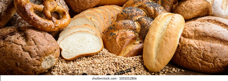 bread and wheat on the table