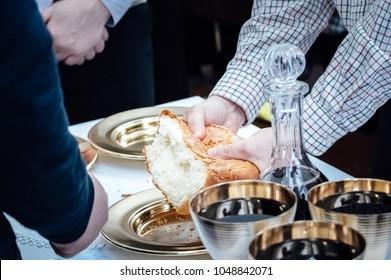 Bread and wine for the Lord's Supper