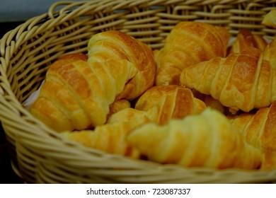 Bread in a wooden basket