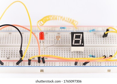 Breadboard electrical for learn for beginners.