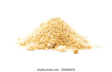 breadcrumbs on white isolated