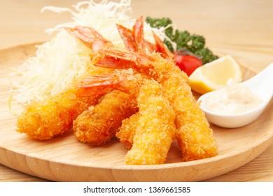 breaded and deep-fried shrimp