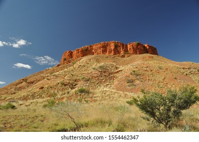Breaden Hills in late afternoon taken from the Canning Stock Route in the Western Australia desert