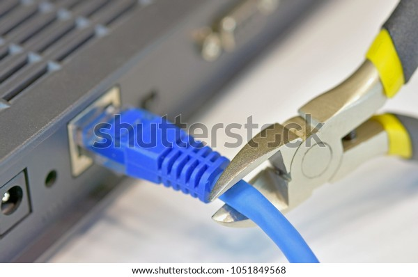 Break down network connection by cutting pliers