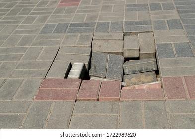 break-sidewalk-walkway-paved-gray-260nw-