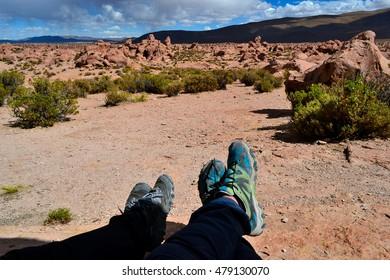 Break time in desert