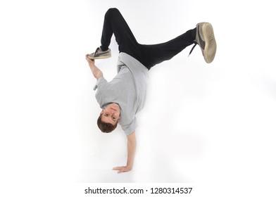 Breakdancer in the street