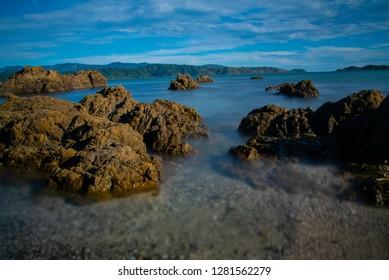 Breaker Bay shore, North Island, New Zealand