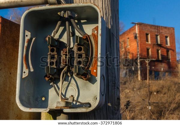 Breaker Box On Telephone Pole Stock Photo (Edit Now) 372971806