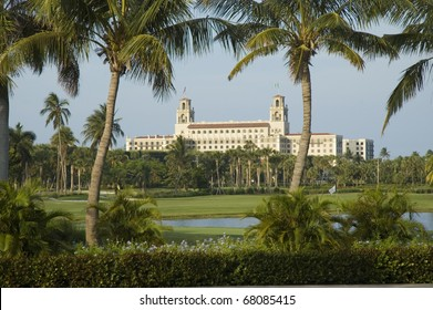 Breakers Hotel showing golf course in Palm Beach, Florida, USA.