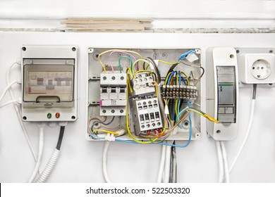 breakers switch flat, fuse, electric box, circuit breakers, electrical panel,  switch