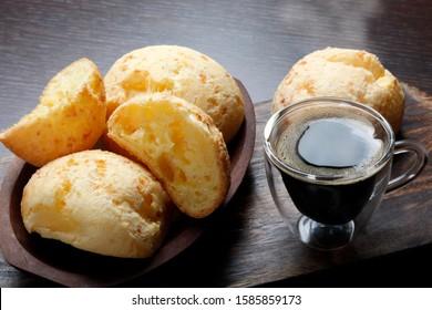Breakfast Brazilian snack cheese bread, Pao de Queijo
