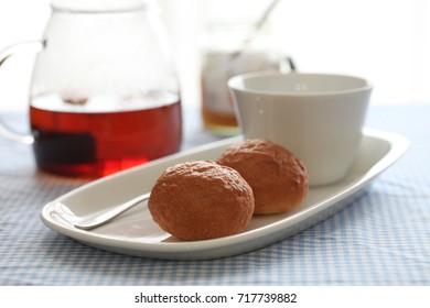 Breakfast bread and tea