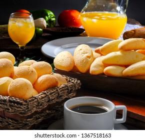 Breakfast, Bun, Cheese, with Orange Juice