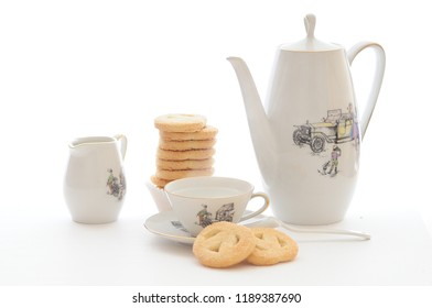 Breakfast with butter biscuits