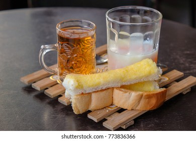 Breakfast, Butter Bread And Soft Boiled Egg