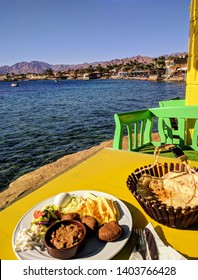 Breakfast by the sea, Dahab, Egypt.