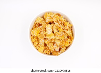 Breakfast cereal - sugar-coated flakes of corn