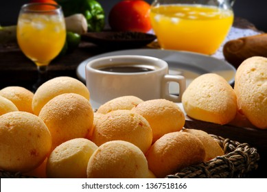 Breakfast with cheese bread