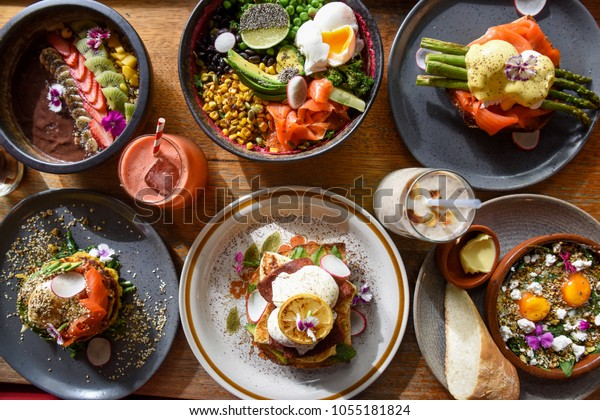 Breakfast Dishes at Melbourne Cafe
