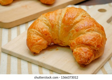 Breakfast France Croissant On Wooden