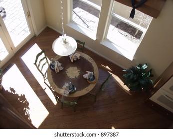 breakfast nook in model home