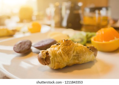 breakfast on table in the morning