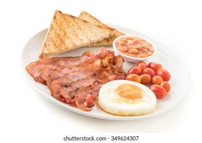breakfast on white background