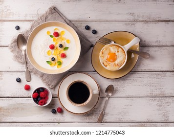 breakfast with porridge
