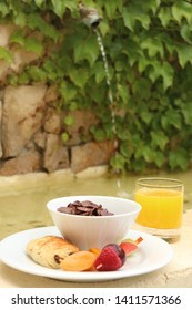 Breakfast in the Provence, Cannes, France.