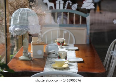 breakfast table with beautiful sunlight