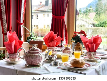 Breakfast Table with classic tea set - B&B home