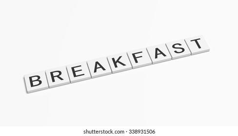 Breakfast word.