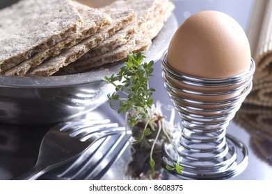 Breakfest with egg and cress