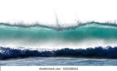 Breaking icy Atlantic wave