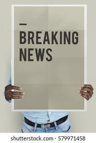 Breaking News Announcement Concept
