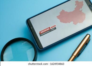 Breaking News, Coronavirus or Covid-19 outbreak in China