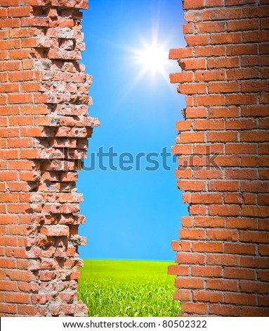 Breaking wall freedom concept