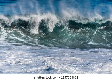 breaking wave in the Atlantic ocean