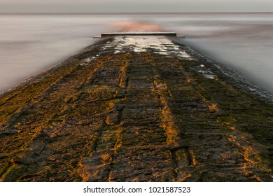 breakwater at the belgian coast