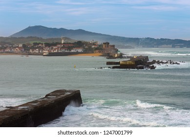 Breakwater of the harbor of Saint-Jean-de-Luz, France