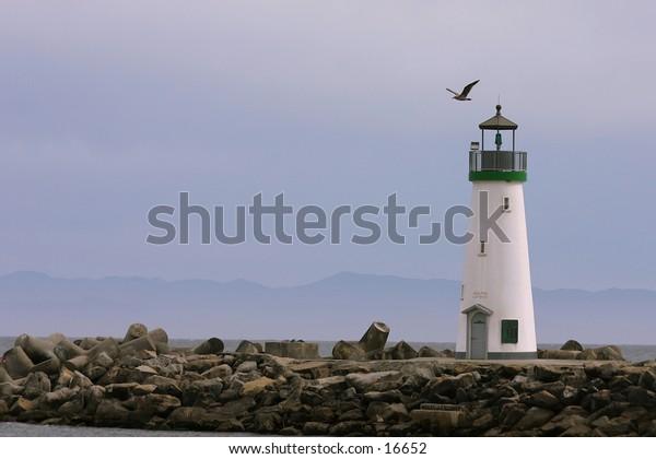 Breakwater lighthouse in Santa Cruz
